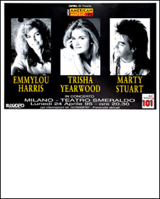 EMMYLOU HARRIS - TRISHA YEARWOOD - MARTY STUART